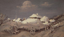 "Копия картины ""зима. пятна света на крышах хат"" художника ""куинджи архип"""
