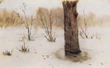"""Копия картины """"Зима. Оттепель"""" художника """"Куинджи Архип"""""""
