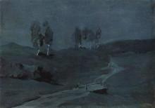 "Копия картины ""тени. лунная ночь."" художника ""левитан исаак"""