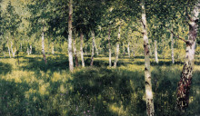 "Копия картины ""Birch grove"" художника ""Левитан Исаак"""