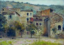 """Картина """"близ бордигеры. на севере италии."""" художника """"левитан исаак"""""""