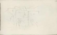 """Картина """"Итальянские дома с деревьями"""" художника """"Левитан Исаак"""""""
