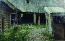 "Картина ""Ветхий дворик"" художника ""Левитан Исаак"""