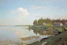 "Картина ""на озере (тверская губерния)"" художника ""левитан исаак"""