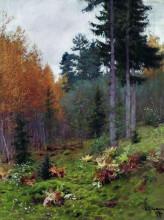 """Картина """"В лесу осенью"""" художника """"Левитан Исаак"""""""
