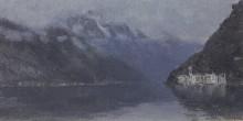"Репродукция картины ""Озеро Комо"" художника ""Левитан Исаак"""