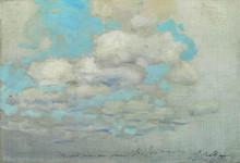"Картина ""облака"" художника ""левитан исаак"""