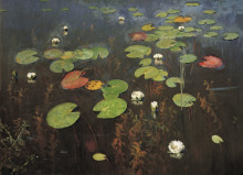 "Копия картины ""water lilies. nenuphar."" художника ""левитан исаак"""