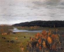 "Картина ""Осень. Долина реки."" художника ""Левитан Исаак"""