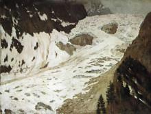 """Копия картины """"Альпы. Снега."""" художника """"Левитан Исаак"""""""