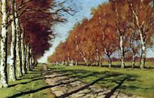 """Картина """"большая дорога. осенний солнечный день."""" художника """"левитан исаак"""""""