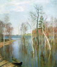 """Картина """"весна. большая вода. """" художника """"левитан исаак"""""""