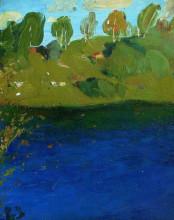 "Картина ""озеро. осень."" художника ""левитан исаак"""