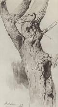 "Картина ""Ствол старого дерева"" художника ""Левитан Исаак"""
