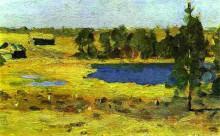 "Копия картины ""The Lake. Barns at the edge of forest."" художника ""Левитан Исаак"""