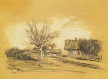 """Картина """"spring in the village"""" художника """"левитан исаак"""""""