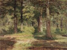 """Картина """"лес. солнечный день."""" художника """"левитан исаак"""""""