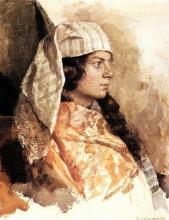 """Картина """"еврейка в восточном покрывале"""" художника """"левитан исаак"""""""