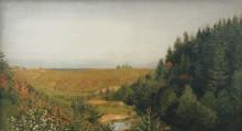 """Копия картины """"пейзаж с лесной рекой"""" художника """"левитан исаак"""""""