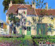 "Копия картины ""The Garden Behind the House"" художника ""Луазо Гюстав"""