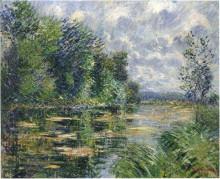 "Картина ""Small Arm of the Seine Near Connelle"" художника ""Луазо Гюстав"""