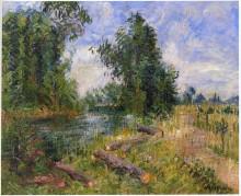 "Копия картины ""By the Lorne River near Caen"" художника ""Луазо Гюстав"""