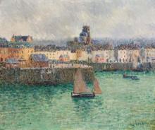 """Картина """"Port of Dieppe"""" художника """"Луазо Гюстав"""""""