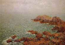 "Картина ""The Red Rocks"" художника ""Луазо Гюстав"""