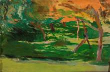 "Картина ""paysage, sketch to the ""strange garden"""" художника ""мехоффер юзеф"""