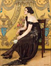 """Копия картины """"the rose of saron (portrait of zofia minder; ornamental fantasy)"""" художника """"мехоффер юзеф"""""""