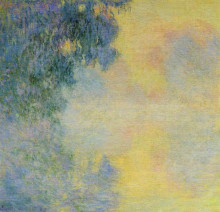"Картина ""туманное утро на сене, восход"" художника ""моне клод"""