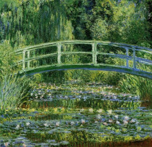 """Копия картины """"японский мостик (пруд с водяными лилиями)"""" художника """"моне клод"""""""