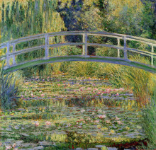 """Репродукция картины """"японский мостик (пруд с водяными лилиями)"""" художника """"моне клод"""""""