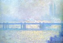 """Копия картины """"мост чаринг-кросс, пасмурная погода"""" художника """"моне клод"""""""
