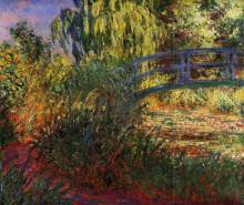 """Картина """"Японский мостик (Пруд с водяными лилиями и тропинка у воды)"""" художника """"Моне Клод"""""""