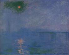 """Картина """"мост чаринг-кросс, туман на темзе"""" художника """"моне клод"""""""
