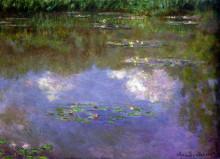 "Картина ""водяные лилии, облака"" художника ""моне клод"""