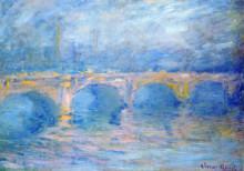 "Картина ""мост ватерлоо на закате, розовый эффект"" художника ""моне клод"""