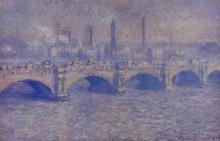 "Картина ""мост ватерлоо, эффект солнечного света"" художника ""моне клод"""