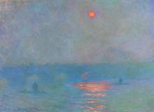 """Картина """"мост ватерлоо, затуманенное солнце"""" художника """"моне клод"""""""
