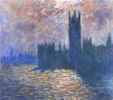 """Копия картины """"Вестминстерский дворец. Отражение в Темзе"""" художника """"Моне Клод"""""""