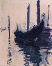 """Картина """"Гондола в Венеции"""" художника """"Моне Клод"""""""