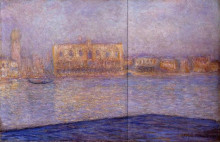 "Картина ""Дворец Дожей, вид с Сан-Джорджо Маджоре"" художника ""Моне Клод"""