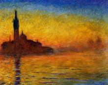 """Картина """"сумерки, венеция"""" художника """"моне клод"""""""