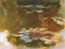"Картина ""Пруд с водяными лилиями"" художника ""Моне Клод"""