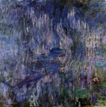 """Копия картины """"Водяные лилии, отражение плакучей ивы"""" художника """"Моне Клод"""""""