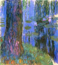 """Копия картины """"Плакучая ива и пруд с водяными лилиями"""" художника """"Моне Клод"""""""