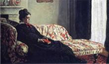 """Копия картины """"размышление. мадам моне на диване"""" художника """"моне клод"""""""