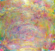 """Репродукция картины """"Тропинка под розовой аркой"""" художника """"Моне Клод"""""""
