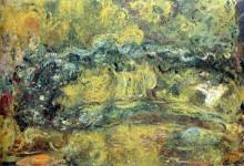 """Картина """"Японский мостик (Мостик над прудом с водяными лилиями)"""" художника """"Моне Клод"""""""